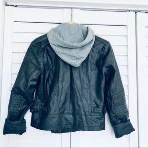Jack by BB Dakota Moto Faux Leather Jacket Medium